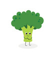 cute cartoon broccoli vector image