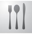 Cutlery gray vector image vector image