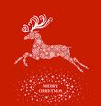 deers christmas vector image