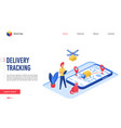delivery tracking service vector image