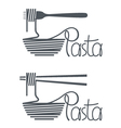 dish of pasta design vector image