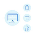 ecg electrocardiography heart diagnostic icons vector image vector image
