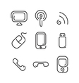 Electronics and mobile set icons vector image vector image