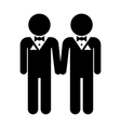Gay marriage icon vector image