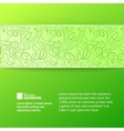 Green leaves cover vector image