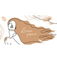 hair salon banner poster woman gorgeous long vector image