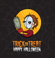 Halloween Trick or Treat Killer Costume vector image vector image