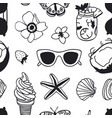 hand drawn summer seamless pattern tropical vector image vector image