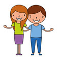 happy couple holding each other vector image vector image