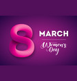 happy womens day greeting card design vector image vector image