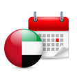 Icon of National Day in UAE vector image vector image