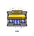 icon store facade or market exterior for retail vector image vector image