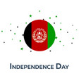independence day of afghanistan patriotic banner vector image vector image