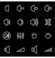 line speaker icon set vector image vector image