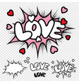 love comic text vector image vector image