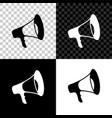 megaphone icon isolated on black white and vector image