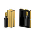 mock up realistic premium wine or champagne vector image vector image