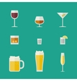 Mugs and glasses icons vector image vector image