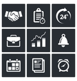 office business icons set vector image vector image