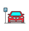 parking zone color icon vector image
