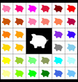 pig money bank sign felt-pen 33 colorful vector image vector image