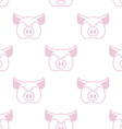 Pig seamless pattern Boar head ornament Pork vector image vector image