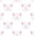 Pig seamless pattern Boar head ornament Pork vector image vector image