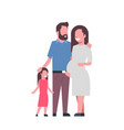 pregnant mother father daughter full length avatar vector image