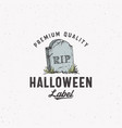 premium vintage style halloween logo or label vector image