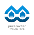 pure water drop symbol icon liquid vector image