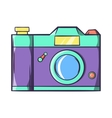 Retro hipster photo camera icon cartoon style vector image