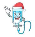 santa infussion bottle mascot cartoon vector image vector image
