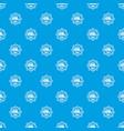 school bus pattern seamless blue vector image