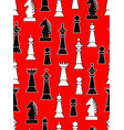 seamless background with black and white chess vector image