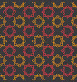 seamless pattern geometric design with black vector image