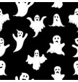 seamless pattern ghost with white eyes on vector image vector image