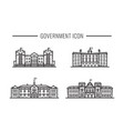 set government building facades icon outline vector image vector image