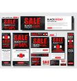 Set of web banner for Black Friday sales standard vector image vector image