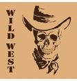 skull Wild West vector image