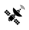space satellite black glyph icon vector image vector image