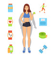 sport and diet weight loss vector image vector image