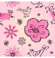 Spring seamless pattern with doodles vector image vector image