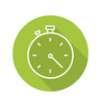 stopwatch flat linear long shadow icon vector image