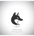Stylized fox head icon vector image vector image
