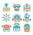 summer sale labels design template of badges vector image vector image