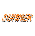 summer typography comics style vector image