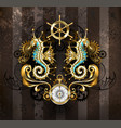 symmetrical composition with seahorse vector image vector image