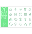 thin line eco neture set icons concept desi vector image vector image