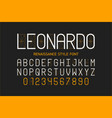 thin renaissance style font alphabet letters and vector image vector image