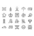united kingdom icon set vector image